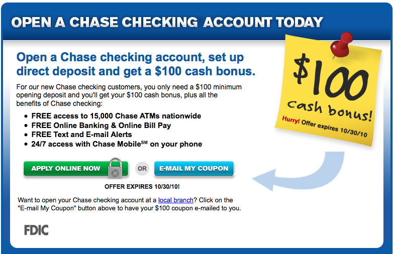 Chase-Sucks org » Chases limted time bonus offers aren't